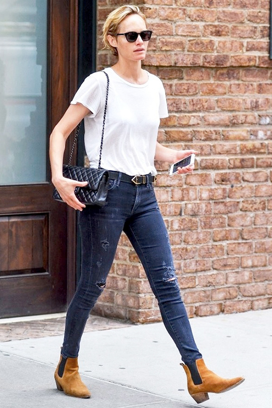 white tee denim jeans summer styling tips street style