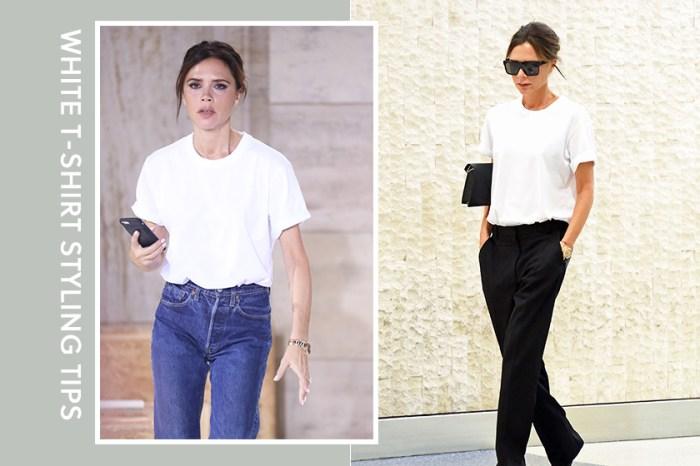 為什麼 Victoria Beckham 可將平凡的白 Tee 穿出強大時尚氣場?秘訣就在這 4 個細節!