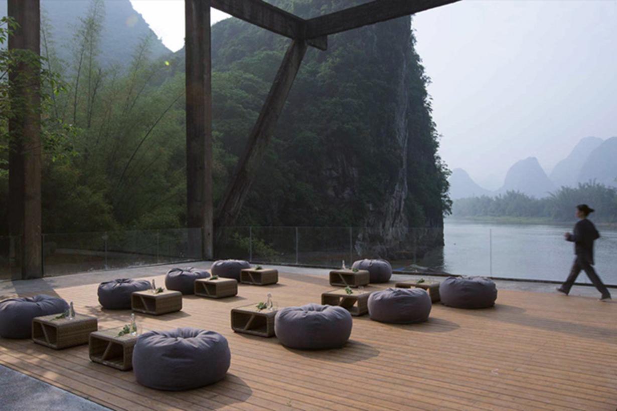 Sugar factory transformed into hotel in yangshuo