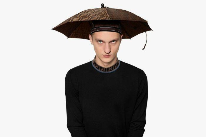 這不是開玩笑,Fendi 雨傘帽要你在暴雨中也能保持有型!