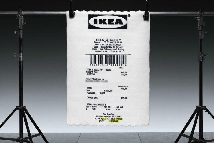 IKEA 與 Virgil Abloh 的最新聯名潮物:巨無霸「收據」地毯!