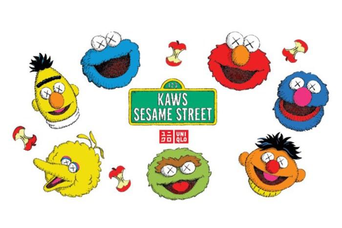 選定入手!率先看整個 Kaws x Sesame Street UT 系列