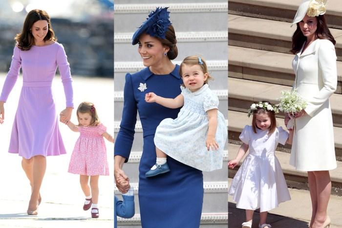 皇室版母女裝到底是怎樣?Kate Middleton 和夏洛特公主原來已多次親身演繹