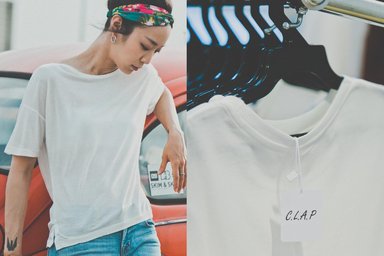 C.L.A.P Taiwan Brand White Tee shirts only
