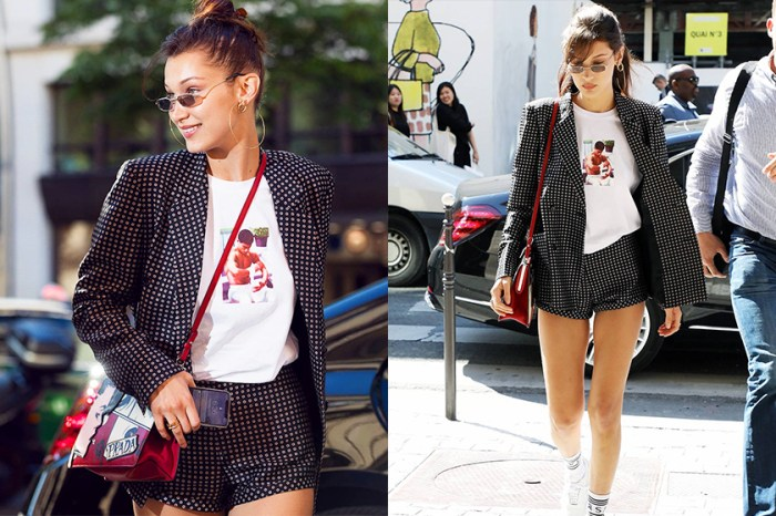 Bella Hadid 身上這件 T-shirt 是潮牌出品?不!竟然是我們嫌「土」的國貨!