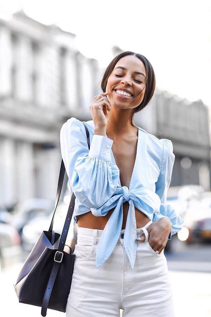 Crop Top Front Tie Crop Top Summer Must Have fashion items summer styling summer outfit street style