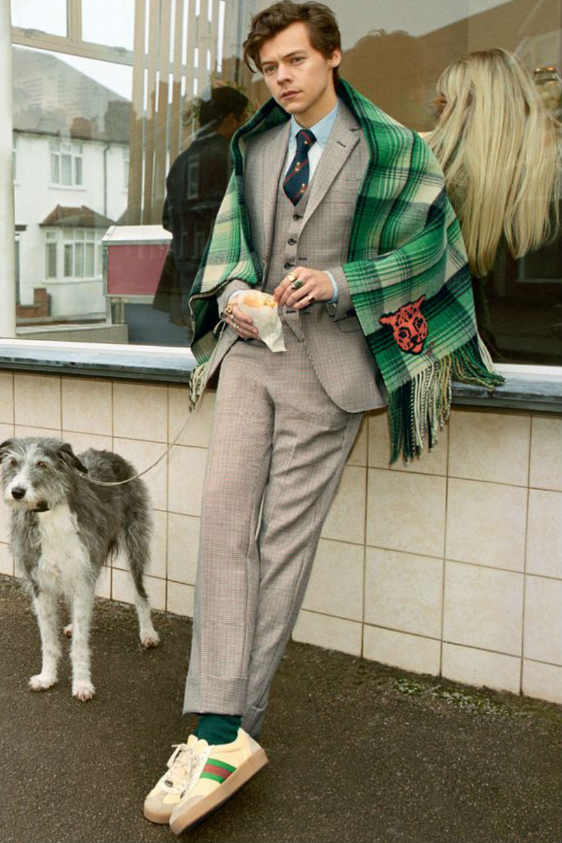 Harry Styles Gucci Campaign Fall 2018 men's tailoring campaign