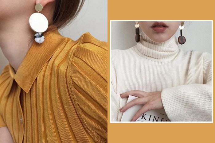 知性簡約風就是靠耳上飾品來打造!看看這位韓國「耳環控」的完美示範吧