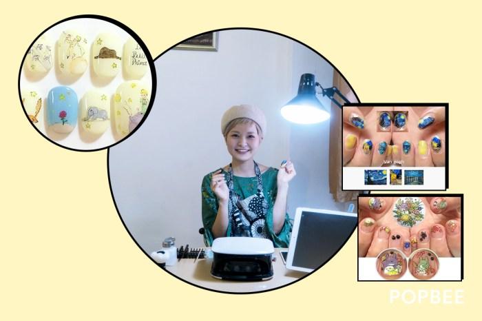 #POPBEE 專訪:能讓梵高的《星夜》重現指甲上的日本美甲師 Shino