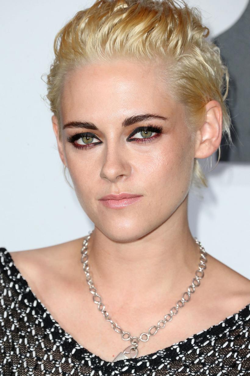 Kristen Stewart beauty evolution long curly hair short hair skin head smokey eyes makeup celebrities hairstyles