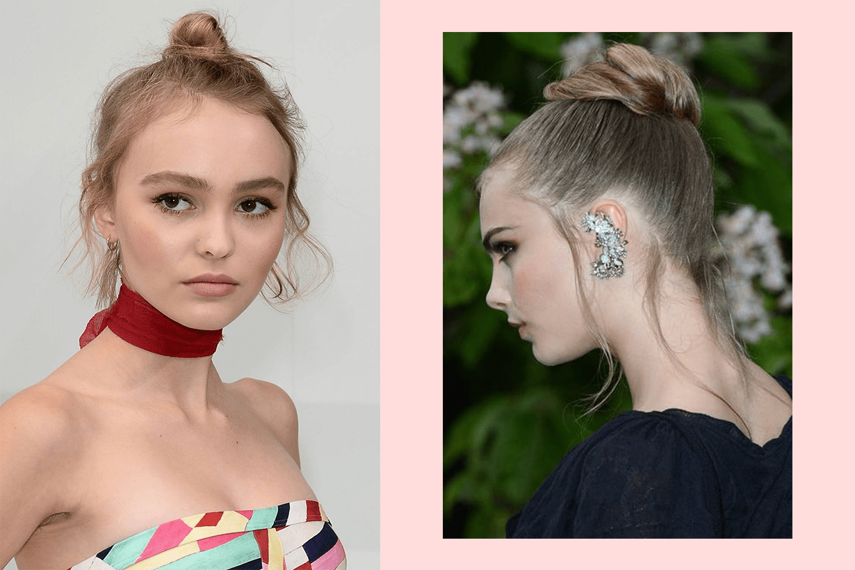 messy-buns-topknot-hairstyles