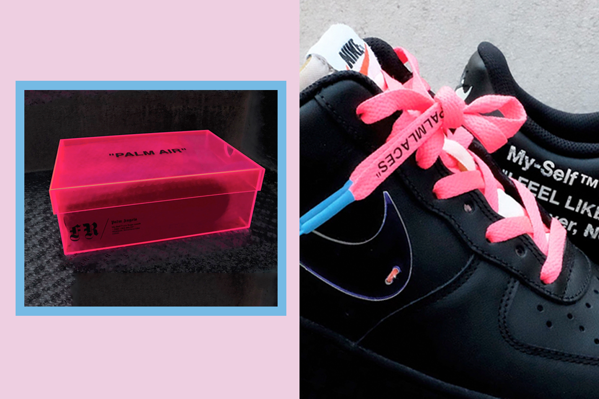 palm angels the ten pink customize sneaker off-white