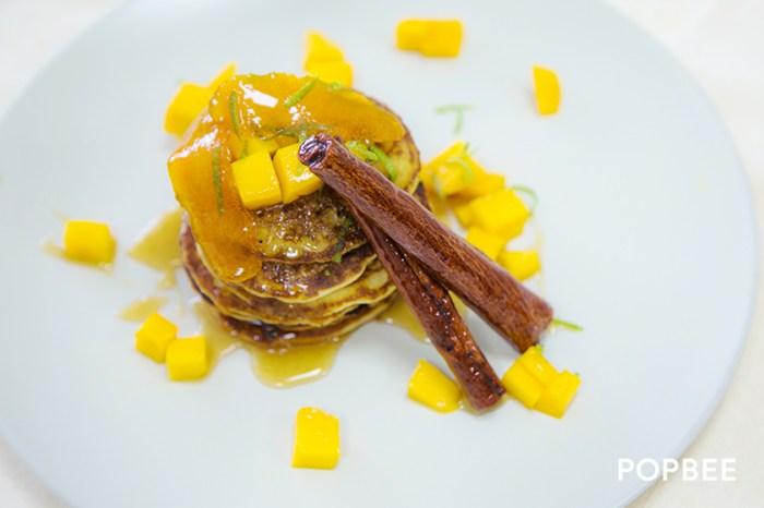 #週末廚房:就算減肥也可以吃!好吃又健康的荳奶芒果 Pancake