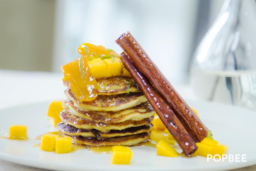 soymilk Mango Pancake