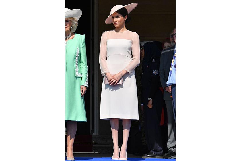 Meghan Markle style white dress