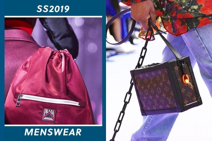 2019 春夏男裝時裝周開鑼:中性風當道!那些女生都不能錯過的男裝手袋