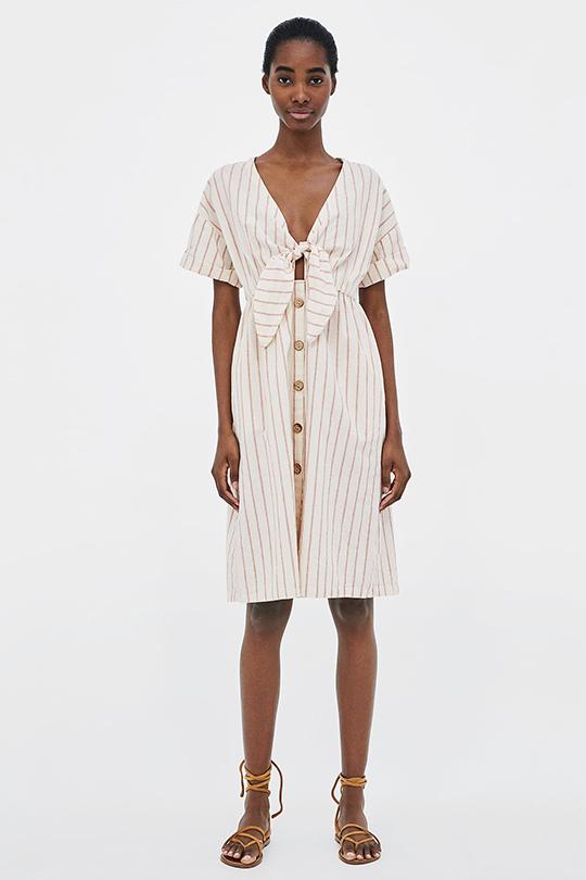 zara-summer-dress-trend-button-front dress