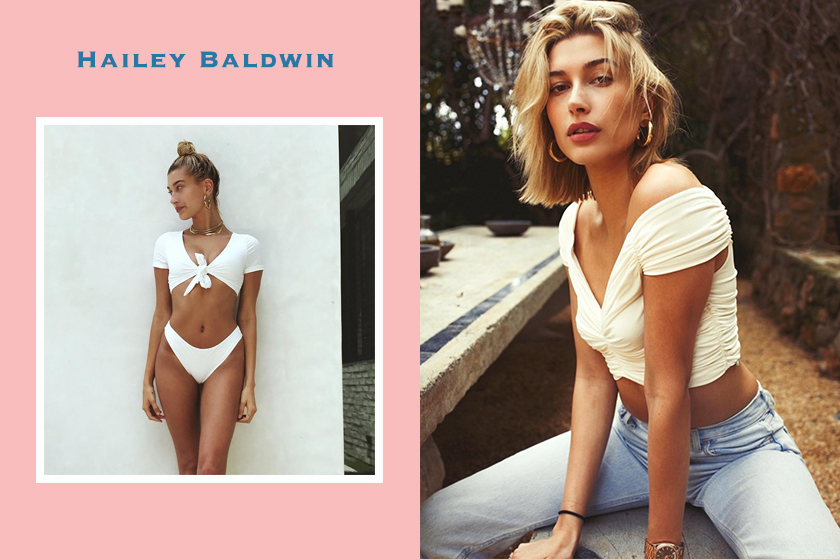 Hailey baldwin casual wear outfit Justin bieber lover