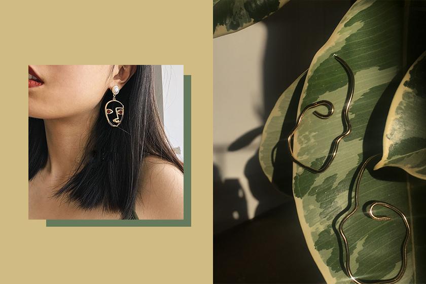 face earrings modern fashion trend