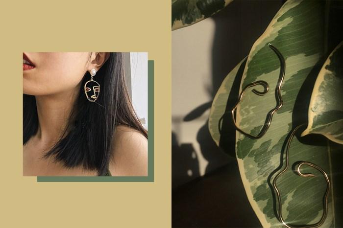 偷私藏小眾單品:復古摩登「Face earrings」,將浮誇厭世臉掛耳上!