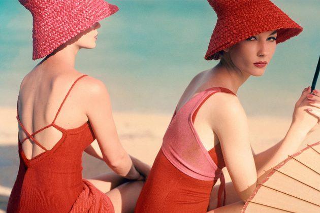 1950s Vogue Magazine Bucket Hat Beach