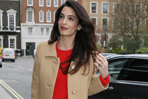 Amal Clooney Hairstyle