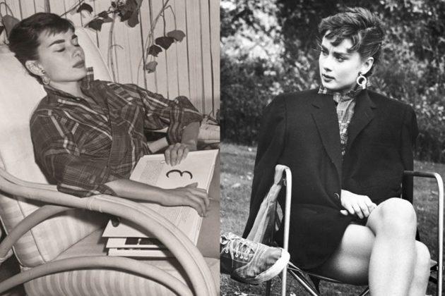 Audrey Hepburn Plaid Shirt