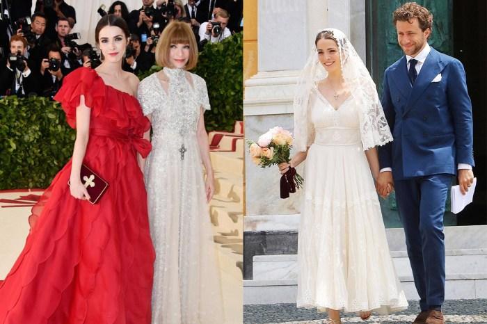 遺傳了媽媽的時尚品味?《Vogue》主編 Anna Wintour 女兒穿著這件婚紗,成為年度最美的夏季新娘
