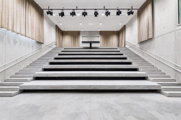 Belgium New Music School Library Modern Style Architecture