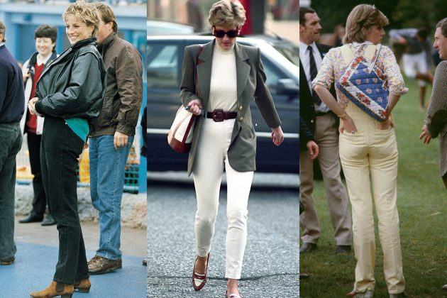 Princess Diana Denim White Jeans Yellow Jeans