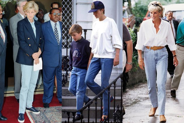 Princess Diana Denim Shirt Sweater Cap Blazer
