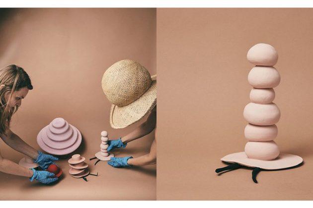 Artist Maryam Keyhani Hat Designer miniature ceramic hats Dasha Valakhanovitch