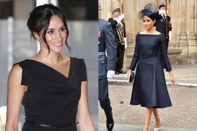 Meghan Black Dress Look Royal Rules