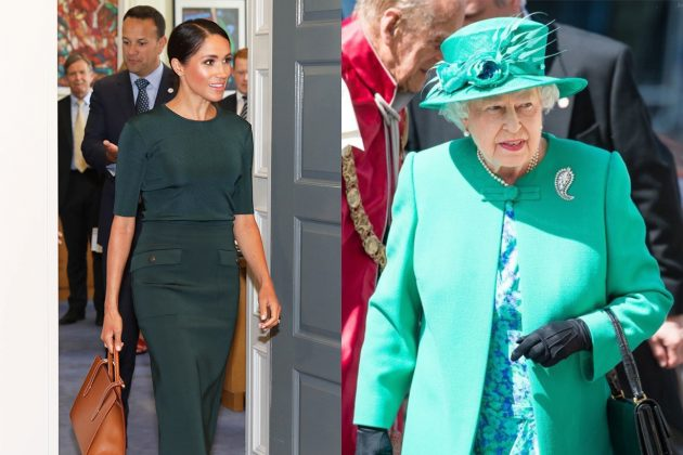 Meghan Markle Queen Elizabeth II Ireland Green Outfits