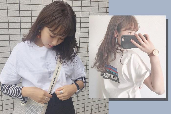 日常 T-Shirt 穿搭變不出新花招?跟著這個愛穿 Tee 的日本女生試試吧!