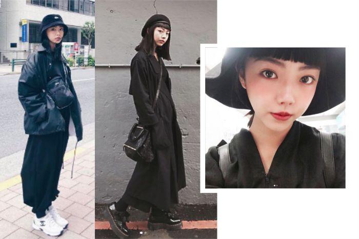 黑色控必追蹤!這個只穿黑色的台灣女孩,竟能玩出 15 種 All Black 穿搭術?