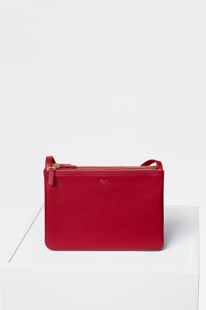 celine pink and red handbags small leather goods