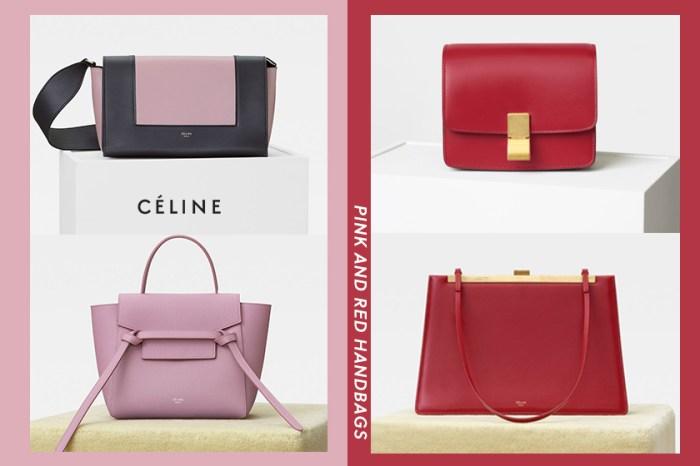 甜美 VS 優雅:Céline 推出一系列粉紅及紅色手袋,如此吸引叫人怎樣二選一?