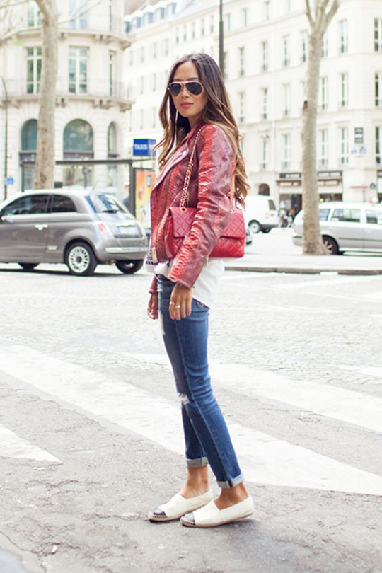 chanel espadrilles street style