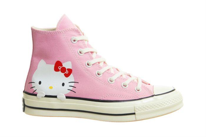 這鞋底太令人驚喜了!Converse x Hello Kitty 將是你鞋櫃裡最萌的一雙鞋