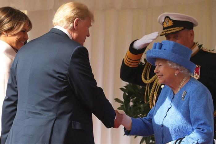 打破皇室禮儀:首次跟英女王會面,霸氣的特朗普也顯得不知所措!