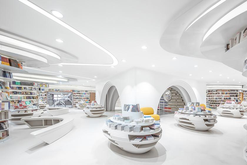 futuristic bookstore xian wutopia labs