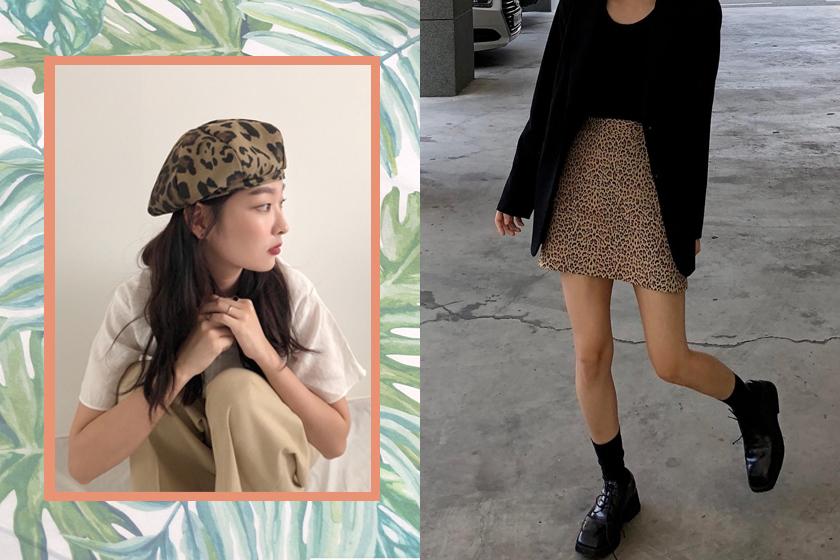 Leopard animal print hit outfit inspiration ideas korean girl