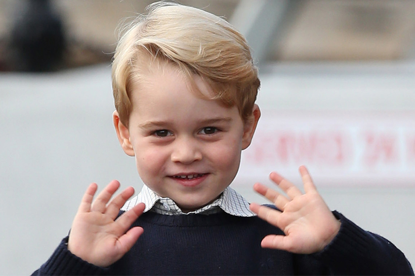 prince george chatty charming once he warms up