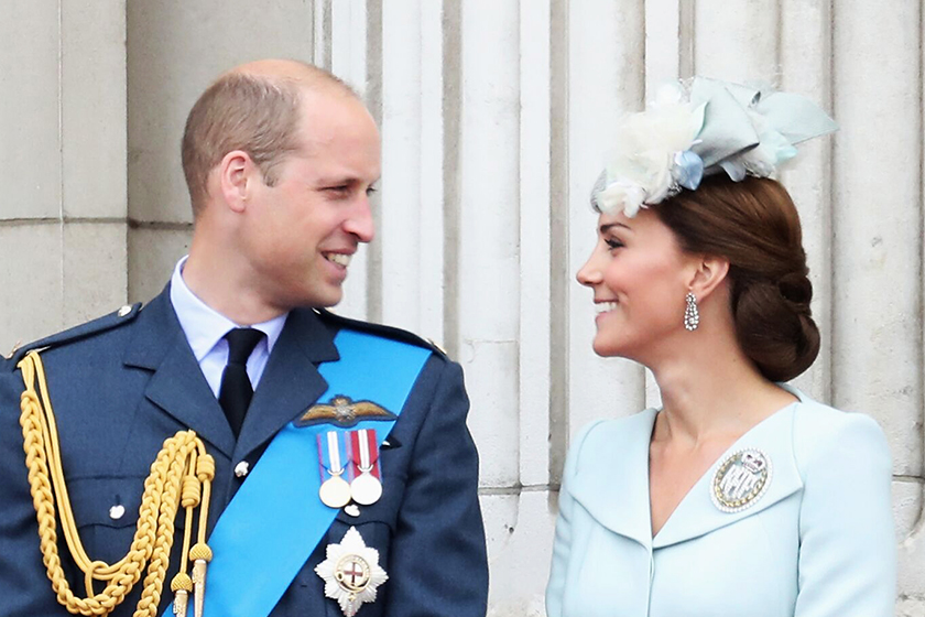 prince william nudges kate-middleton royal air force centenary flypast