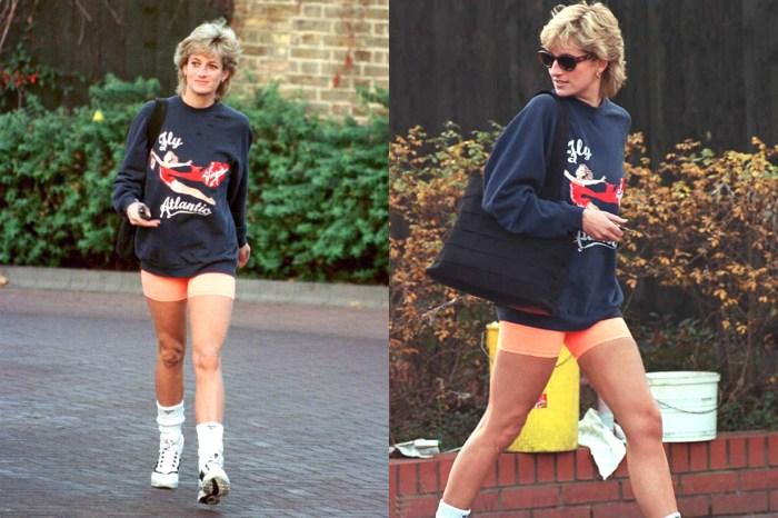 誰又想到這麼多年後戴安娜王妃還會帶起時尚潮流?這次是單車褲!