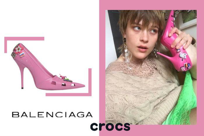 芭比娃娃的高跟鞋成真了!Balenciaga 與 Crocs 聯手推出最夢幻粉紅膠鞋