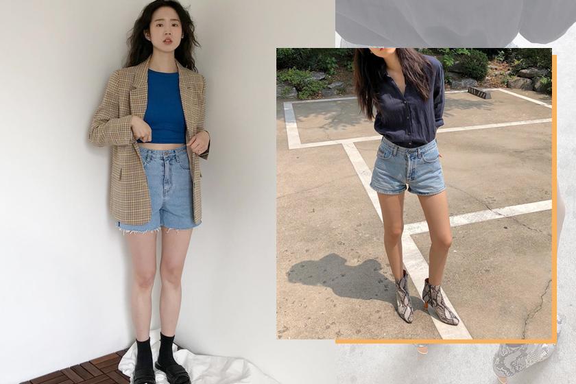 denim shorts outfits inspiration daily formal look korean girls