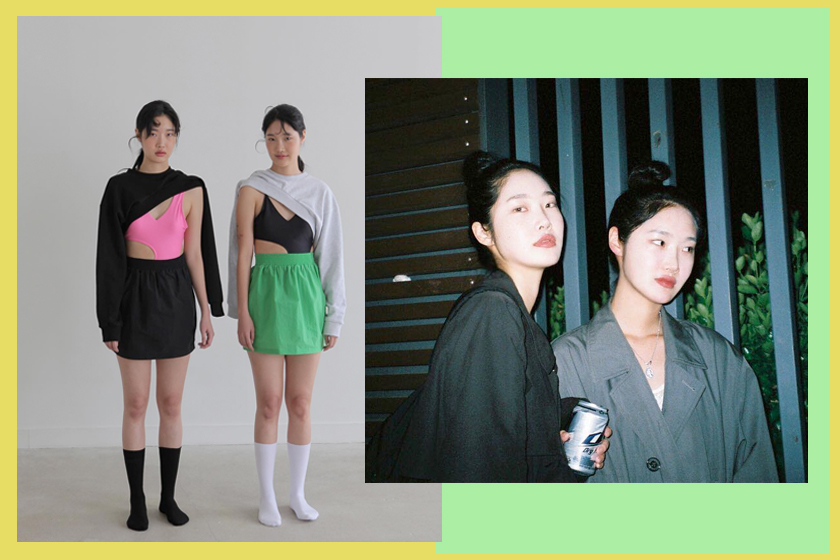 korean fashion twins freckle @malincovita @oh.my.jin instagram stylish
