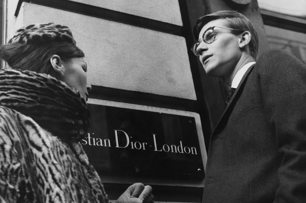 French fashion designer Yves Saint Laurent